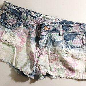 Pants - Floral shorts